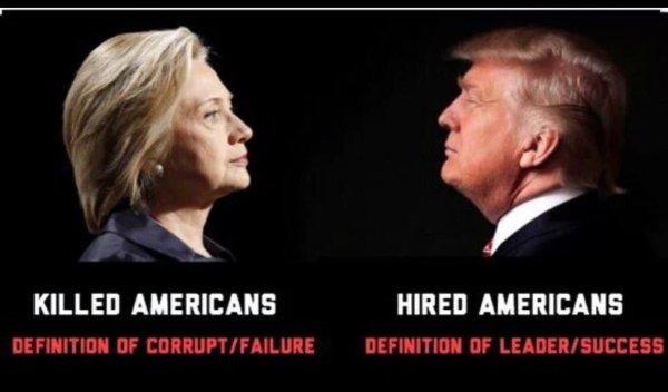 trump hillary Americans